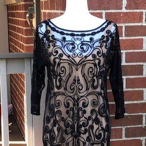 Catherine Malandrino Dresses - Lace over Slip Dress